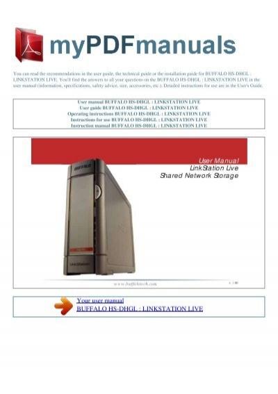 Buffalo linkstation ls-xl manuals.