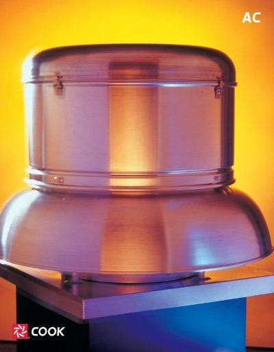Cook Roof Mounted Exhaust Fan : Power roof and wall ventilators loren cook company