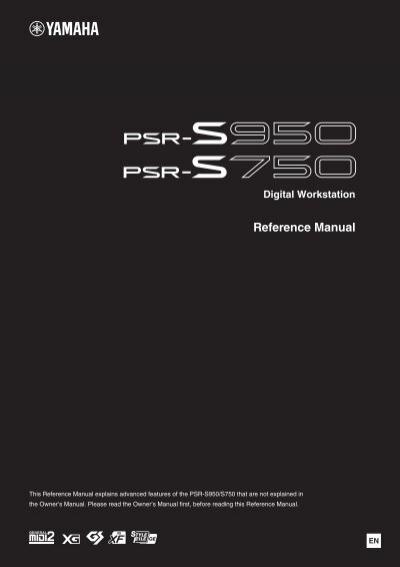 psr s950 s750 reference manual yamaha rh yumpu com yamaha psr s910 reference manual pdf Keyboard Yamaha PSR 710