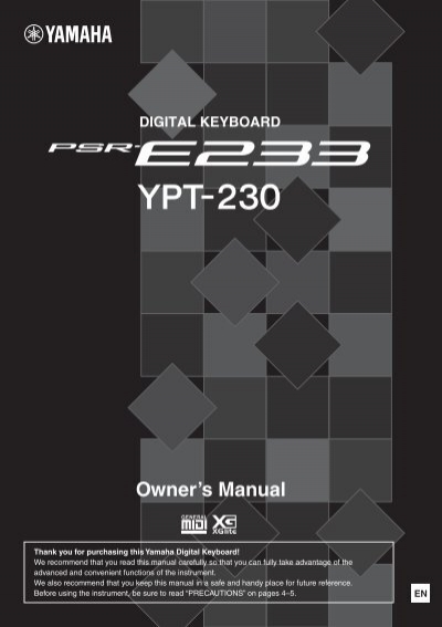 yamaha psr s910 reference manual