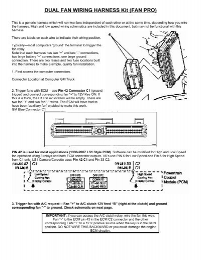 DUAL FAN WIRING HARNESS Kit (FAN PRO) - Wester's Garage M And H Wiring Harness on h and m bag, h and m wetsuit, h and m tower, h and m horse, h and m vest, h and m boots, h and m backpack, h and m furniture, h and m tube, h and m tumblr,