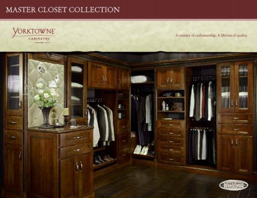 Master Closet Collection   Yorktowne Cabinetry