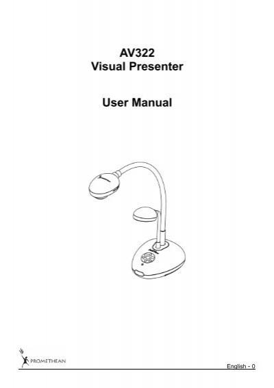 av322 visual presenter user manual promethean planet rh yumpu com