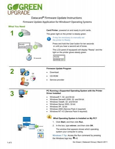 Datacard Firmware Update Instructions - Elliott Data Identity