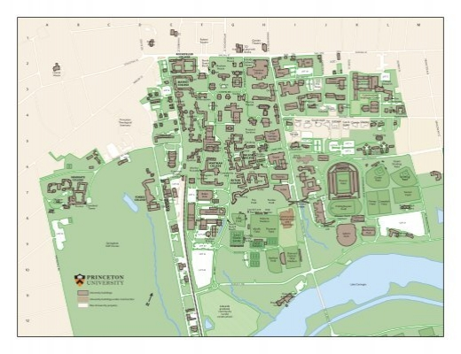 Forbes College Princeton Map