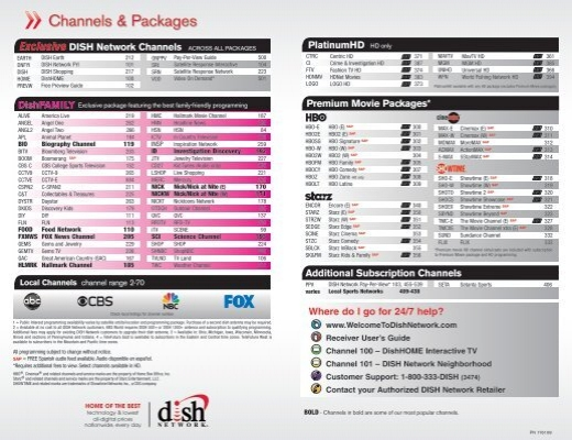 Exclusive DISH Network Channels - Home Concepts