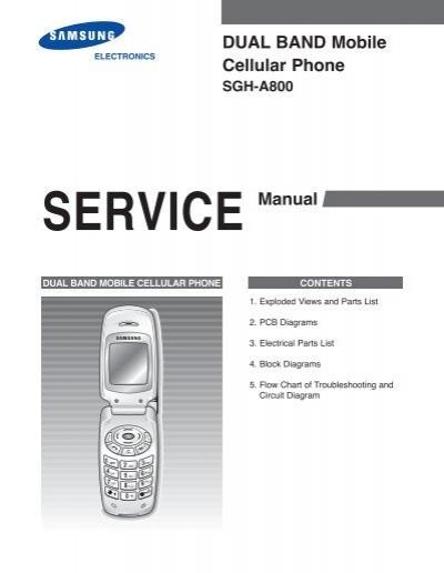 samsung sgh a800 service manual pdf rh yumpu com samsung g600 manual network search Samsung F480