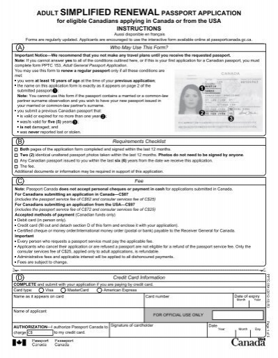 Fillable Online Adult General Passport Application Adult Inducedfo