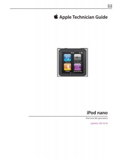ipod nano 6th generation apple technician guide 4 ifix me rh yumpu com apple technician guide mac pro apple technician guide mac pro