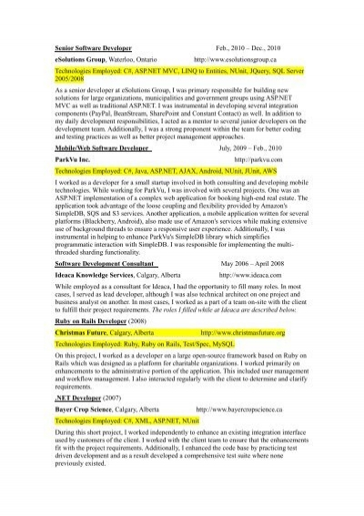 Sap Resumes Examples  CV And Resume Samples With Free Download SAP