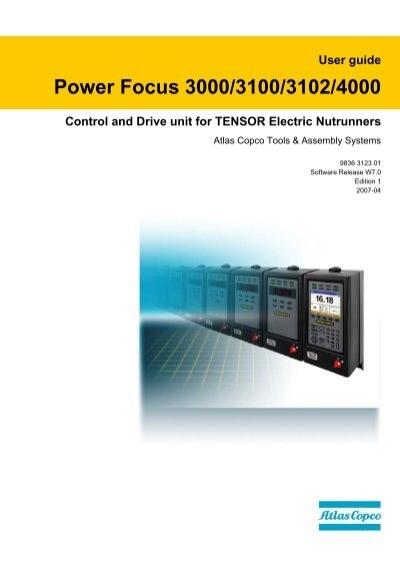 atlas copco power focus 4000 user manual