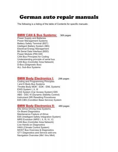 german auto repair manuals baum tools rh yumpu com 6-Speed Manual Transmission 2017 BMW 320I Sedan Manual