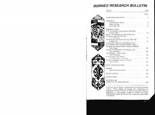 Mia Mahkota Psm Borneo Research Council