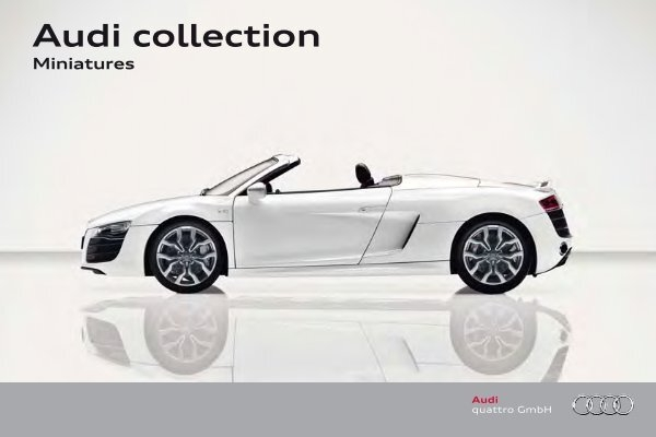 Audi Collection Miniatures - Audi collection