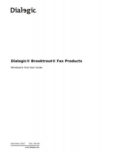 brooktrout fax products windows end user guide dialogic rh yumpu com Dialogic Software Dialogic Theory