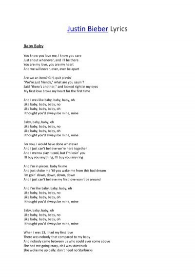 My baby you lyrics
