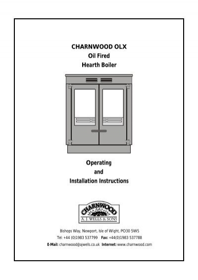Charnwood OLX Oil Fired Hearth Boiler Installation Instructions