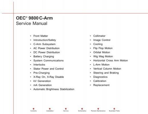 oec® 9800c arm service manual internetmed  fu%c3%83%c2%9fball hosen c 6 #1