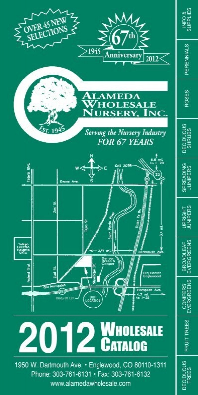 Alameda Wholesale Nursery Catalog Pdf