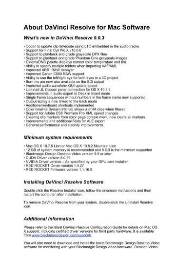 About Davinci Resolve For Mac Software Blackmagic Design