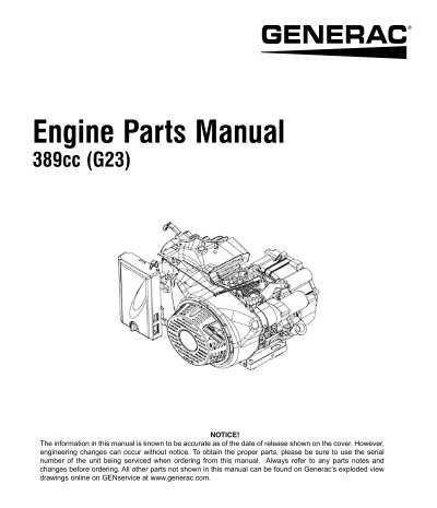 generac power systems inc oscar wilson engines parts rh yumpu com Generac 20Kw Installation Manual Generac Generator Parts