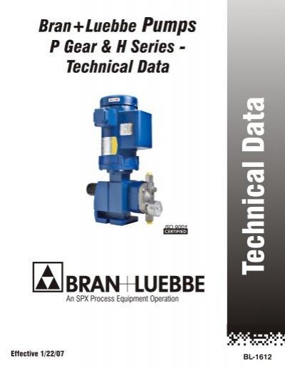 technical data bran luebbe metering pumps process pumps rh yumpu com