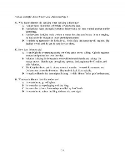 hamlet part 8 themes quiz essay Short-answer quizzes 6 homework help questions with expert answers you'll also get access to more than 30,000 additional guides and 300,000 homework help questions answered by our experts.