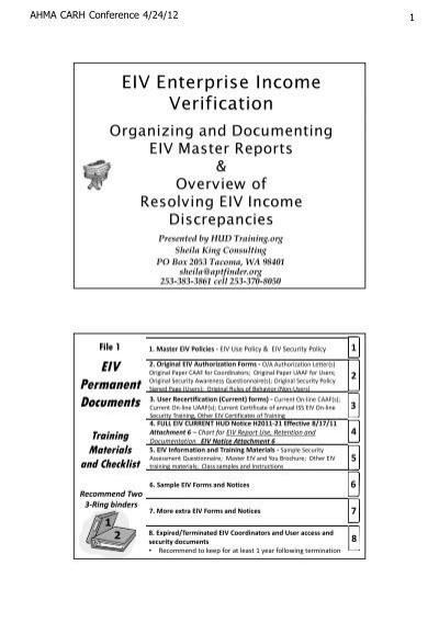 Eiv Enterprise Income Verification