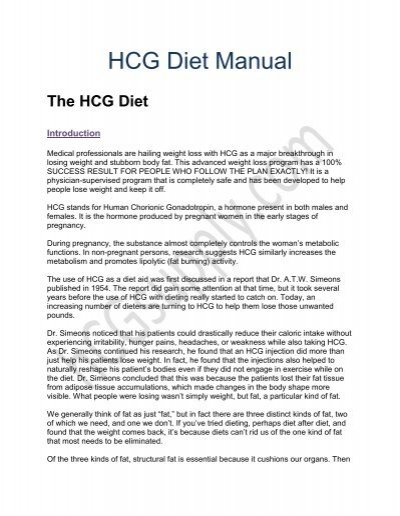 how to tell if pregnant on hcg diet