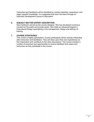 plan of instruction  u2013 c