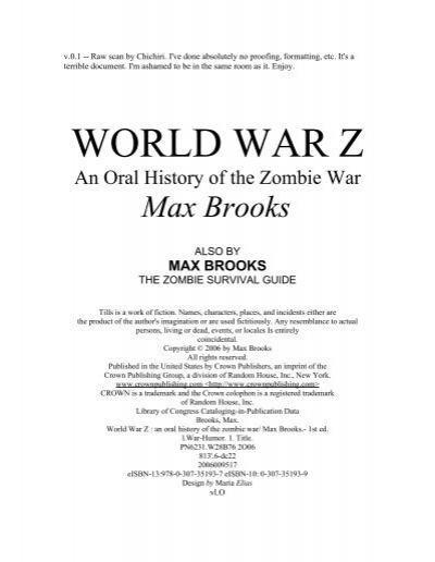 world war z book characters