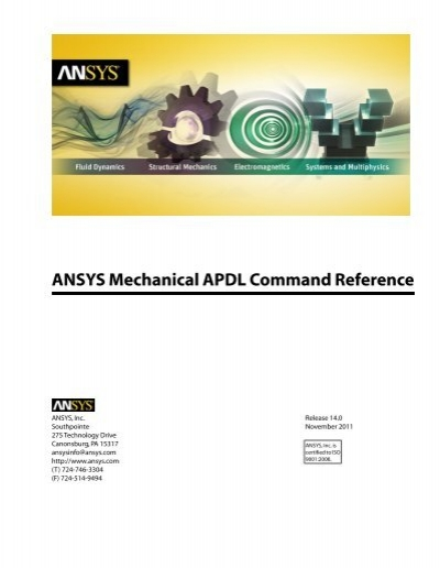 Mechanical APDL Command Reference - Customer Portal - Ansys