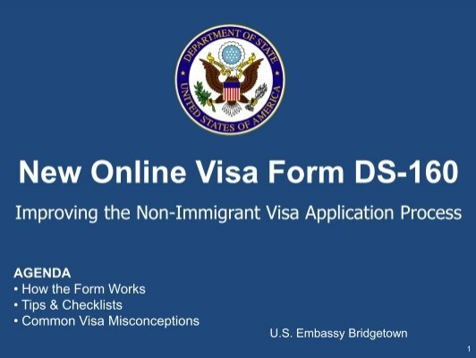 What information is required for the U.S. nonimmigrant visa form?