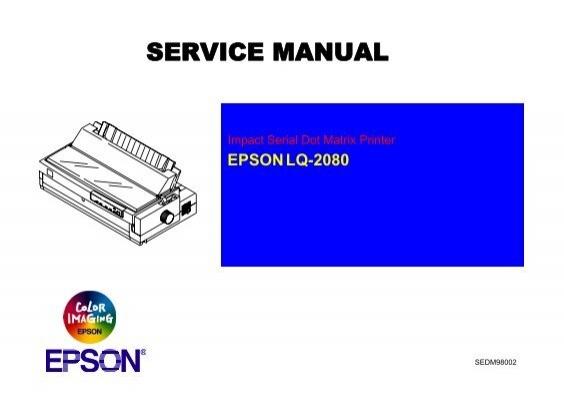 epson lq 2080 service manual pdf freeprintermanuals com rh yumpu com Parts Manual Owner's Manual