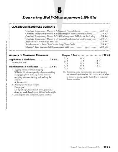 Learning Self-Management Skills - ETHS