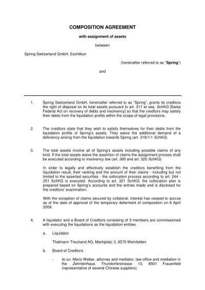 091123 Nachlassvertrag Englisch Thalmann Treuhand Ag