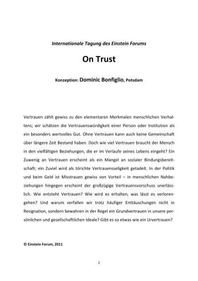 wie entsteht vertrauen