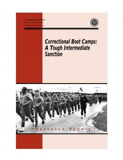 correctional boot camps a tough intermediate sanction