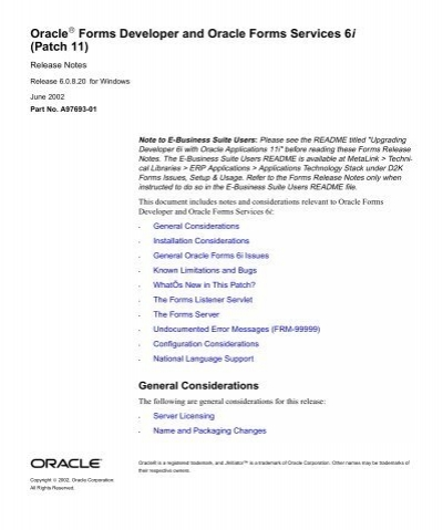 oracle forms 6i patch 19 download