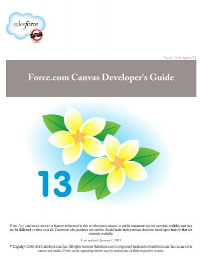 force com canvas developer s guide salesforce com rh yumpu com Canva My Designs Canva My Designs