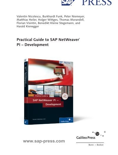 practical guide to sap netweaver pi development rh yumpu com practical guide to sap netweaver pi – development pdf practical guide to sap netweaver pi development 2nd edition pdf
