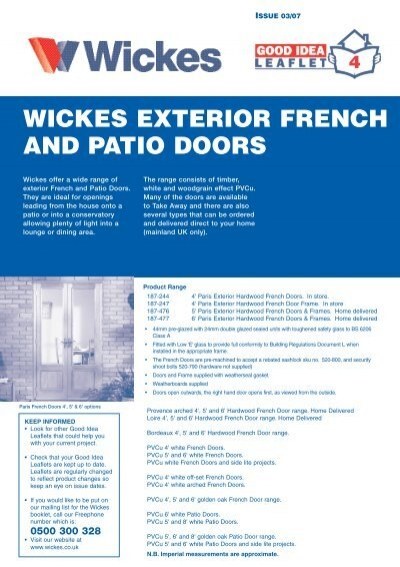 Exterior French And Patio Doors   Wickes