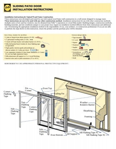 Sliding Patio Door Installation Instructions   LowesLink