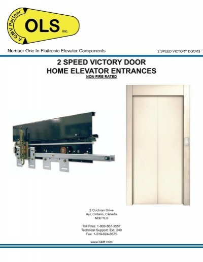 sc 1 st  Yumpu & 2 SPEED VICTORY DOOR HOME ELEVATOR ENTRANCES - OLS pezcame.com