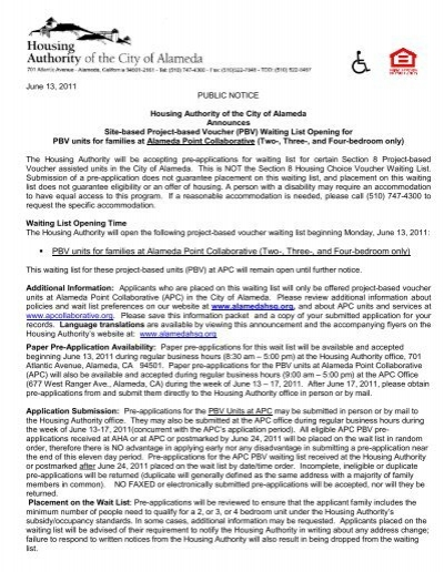 Alameda Point Collaborative Information - Alameda Housing Authority
