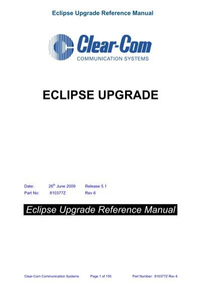 eclipse upgrade reference manual clear com rh yumpu com schlumberger eclipse reference manual pdf Ataaps Users Reference Manual