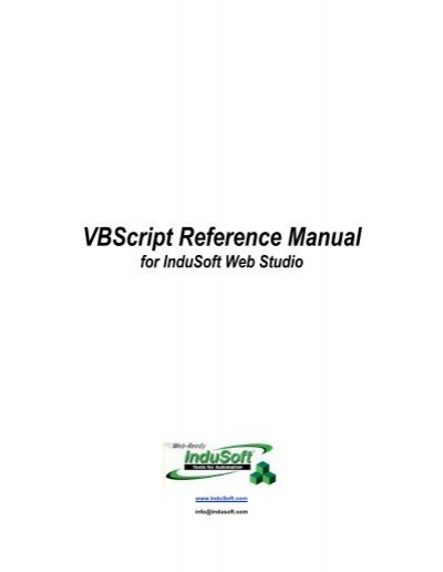 vbscript reference manual for indusoft web studio rh yumpu com InduSoft vs Wonderware Inductive Automation
