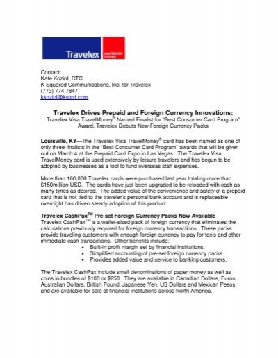 Travelex Drives Prepaid and Foreign Currency Innovations: