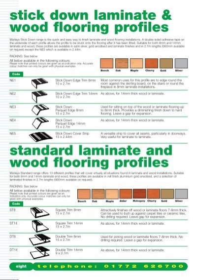 Stick down laminate wood flooring profiles standard