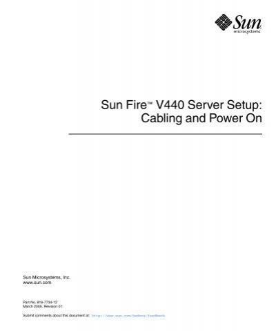 sun fire v440 setup cabling and power on oracle rh yumpu com Sun Sunfire 440 Sun E-450